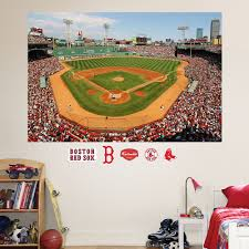 Boston Red Sox Home Decor by Boston Red Sox Fenway Park Mural Wall Decals