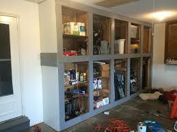 Make Wooden Garage Cabinets decorating build hanging garage shelves with best ceiling storage
