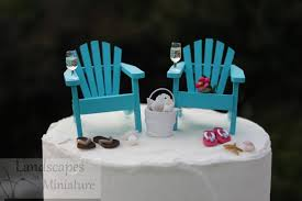 beach theme wedding cake topper basic set with drinks classic