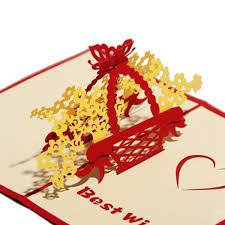 3d pop up paper cut greeting card postcard flower birthday