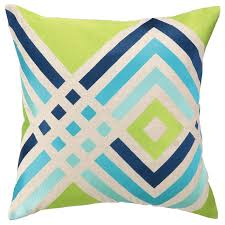 Lumbar Patio Pillows Turk Los Olivos Blue Embroidered Pillow I Zinc Door
