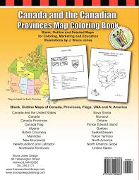 Map Of Canada Provinces Amazon Com Canada And The Canadian Provinces Map Coloring Book