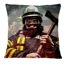 home decor green sparklet firefighter pillow case cover