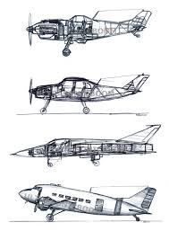 drawn airplane aviation pencil and in color drawn airplane aviation