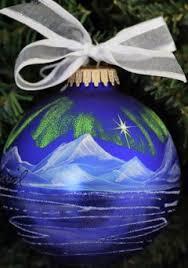 alaska painted ornaments