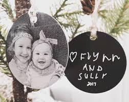 photo ornaments etsy