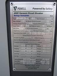 powell electrical new 1200 amp 15 kv 15pv36stdx 2 vacuum circuit