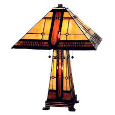 Arts And Crafts Desk Lamp Mission Tiffany Lamps Lighting Stained Glass Arts U0026 Crafts