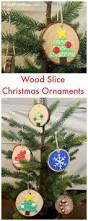 how to make adorable wood slice christmas ornaments
