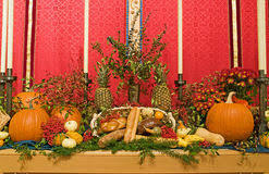 thanksgiving church altar stock image image of berry 7280119