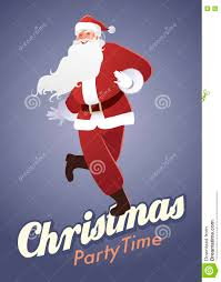 christmas party time funny santa claus dancing stock illustration