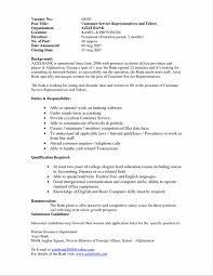 customer service representative sample resume sample resume on bank teller customer service frizzigame letter of recommendation for immigration teller resume for a bank