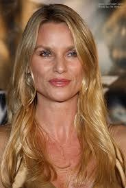 hair cut for high cheek bones nicollette sheridan with long golden blonde hair and wearing a