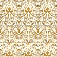 rajkumari white and gilt gold batik fabric