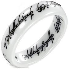 Lord Of The Rings Wedding Band by Ring High Tech Ceramic Tungsten Carbide Ring Scratch Free