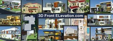 Row House Front Elevation - 3d front elevation 219 photos 367 reviews company allah ho