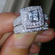 silver nice rings images Cute nice diamond rings wedding ring set sz 5 11 free shipping jpg