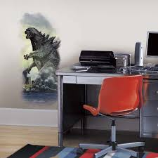 Popular Characters Murals Roommates Giant Godzilla City Movie Wall Decal Monster Room Decor Bedroom