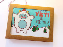 boxed set of 8 cards are you yeti for tiny