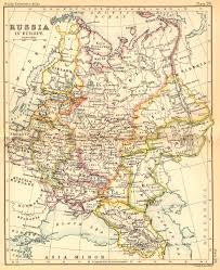 Europe Russia Map Russia In Europe 1887 Feefhs