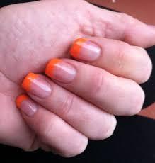 orange tip acrylic nails u2013 great photo blog about manicure 2017