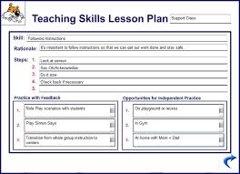 10 best images of sample teacher lesson plan elementary