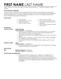 experienced professional resume template entry level resume templates to impress any employer livecareer