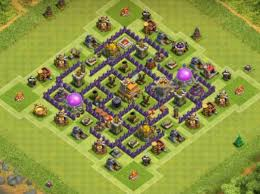 layout design th7 10 best th7 base town hall 7 layouts coc top hybrid base th 7
