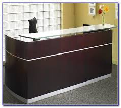 Reception Desk With Transaction Counter Alera Valencia Reception Desk With Transaction Counter Desk