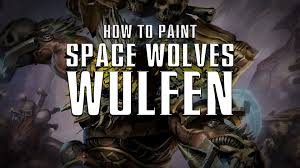 how to paint space wolves wulfen youtube