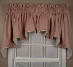 landis mini check lined duchess swags valance window curtain