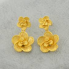 trendy gold earrings anniyo trendy gold color jewelry set flower pendant necklace