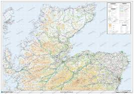 Road Map Of Scotland Scotland North East Poster Westeurope Countries Europe Wall Maps