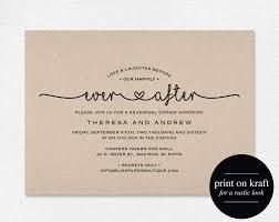 invitations for reception after wedding wording wedding