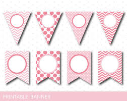 baby shower banners printable pink banner pink birthday and baby shower banner blank