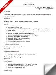 resume for a registered nurse template nursing student resume sample