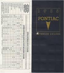 paint codes for the 1985 fiero pennock u0027s fiero forum