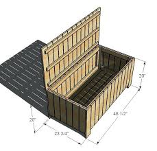 Garden Storage Bench Wooden Outdoor Storage Bins U2013 Dihuniversity Com