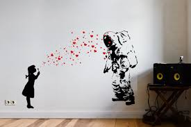 banksy wall stickers project for awesome banksy wall art home astronaut heart bubble photo in banksy wall art