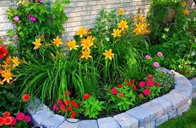 easy front yard flower beds small front yard landscape design