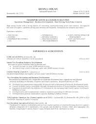Sample Management Resumes by Senior Logistic Management Resume Vp Director Operations