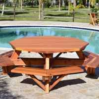 octagon picnic table plans with umbrella hole octagon picnic table wood picnic table with attached bench