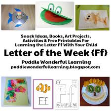 puddle wonderful learning preschool activities letter of the