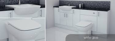 White Gloss Bathroom Furniture Bathcabz Bathroom Fitted Furniture White Gloss Furniture