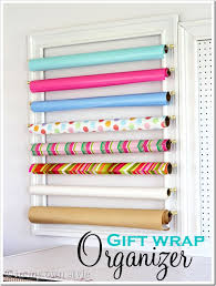 flat wrapping paper diy gift wrap organizer hint use flat moulding and put an