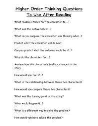 design thinking exles pdf higher order thinking questions higher order thinking higher level