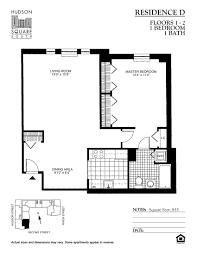 Northvale Floor Plan Hudson Square South Downtown Hoboken Rentals