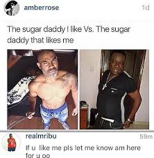 Sugar Mama Meme - mr ibu replies amber rose if you like me let me know daminaj