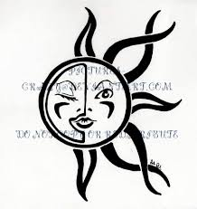 tribal sun and moon tribal sun and moon tattoos http
