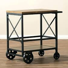 industrial iron wood kitchen trolley natural black buy kitchen industrial kitchen cart time bomb vintage refinished industrial